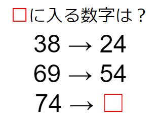 2つの関係性を推測する数字謎解き No.0013