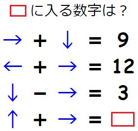 矢印に隠された意味を解き明かせ。 謎解きクイズ No.0093
