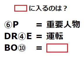 ひらめき力テスト:暗号を解き明かせ! 謎解き問題 No.0122