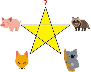 星の頂点に立つのは何の動物? イラスト謎解き No.0125