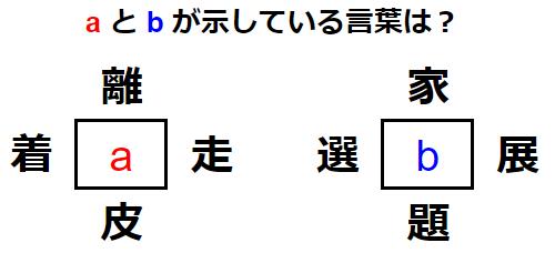 和同開珎(4つの言葉から漢字を見つけ出せ) 練習問題 No.0131
