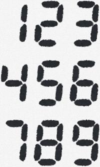 解答と解説 No.0135 - デジタル数字(7セグ)をイメージしよう