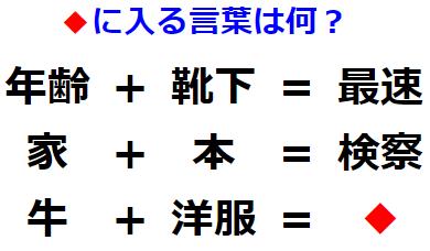 【発想力】足し算に隠された変換法則とは? 漢字謎解き No.0150
