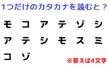 【観察力】カタカナが示している言葉は何? 謎解きクイズ No.0151