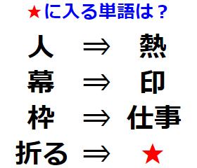 【観察力】単語に潜んでいる関係性とは? 漢字謎解き No.0188
