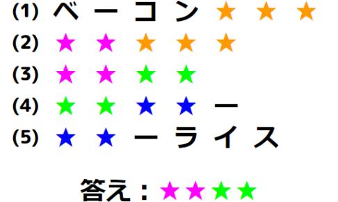 【国語力】食べ物リレーを繋げよう! 文字謎解き No.0193